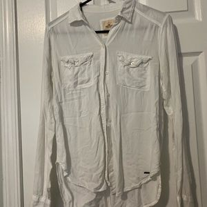 Button up white coverup